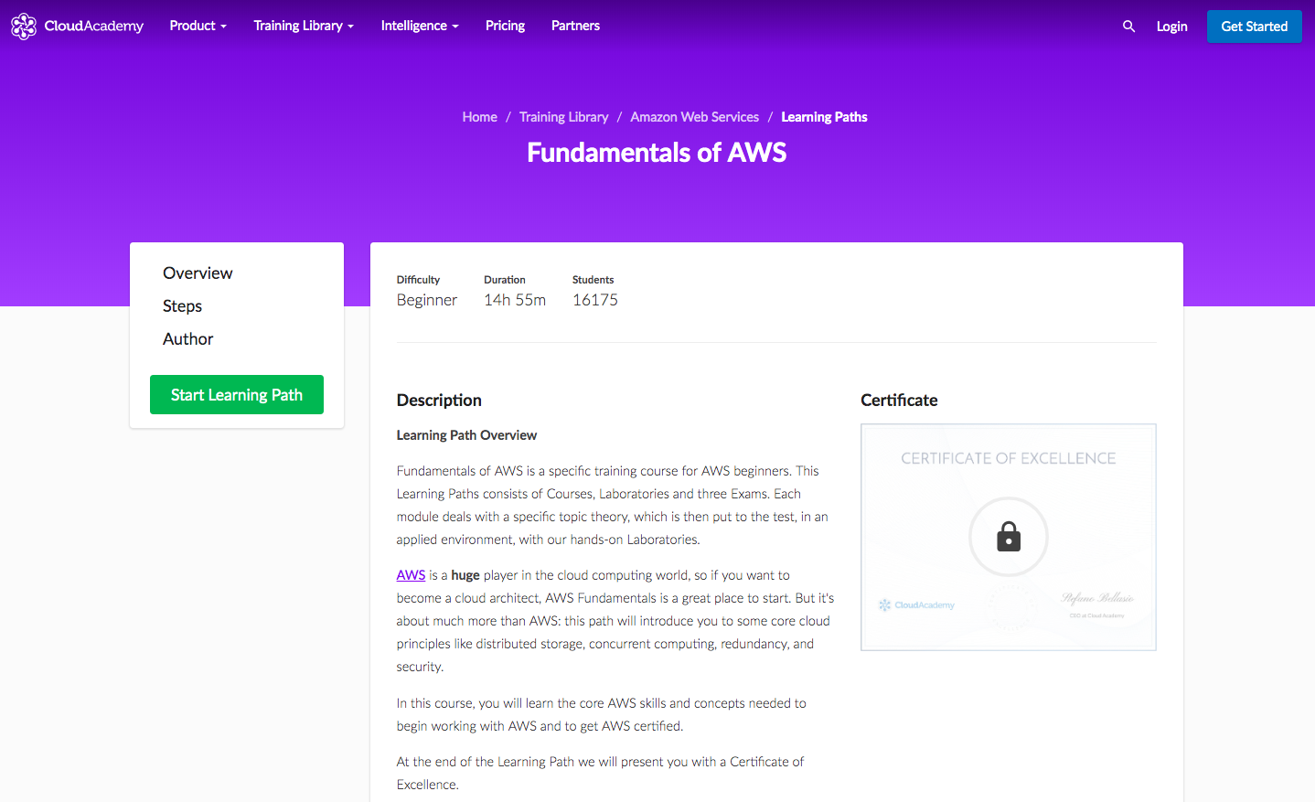 Fundamentals of AWS Learning Path