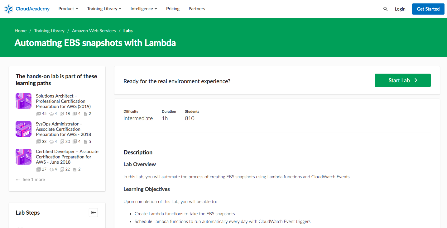 Automating EBS snapshots with Lambda