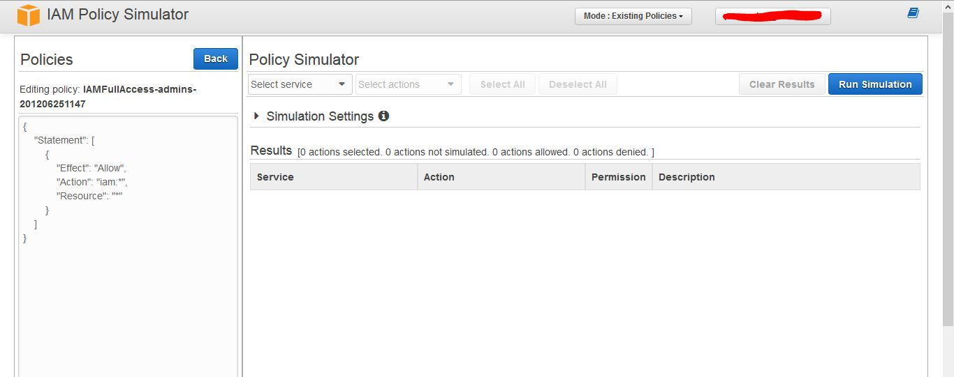IAM Policy Simulator