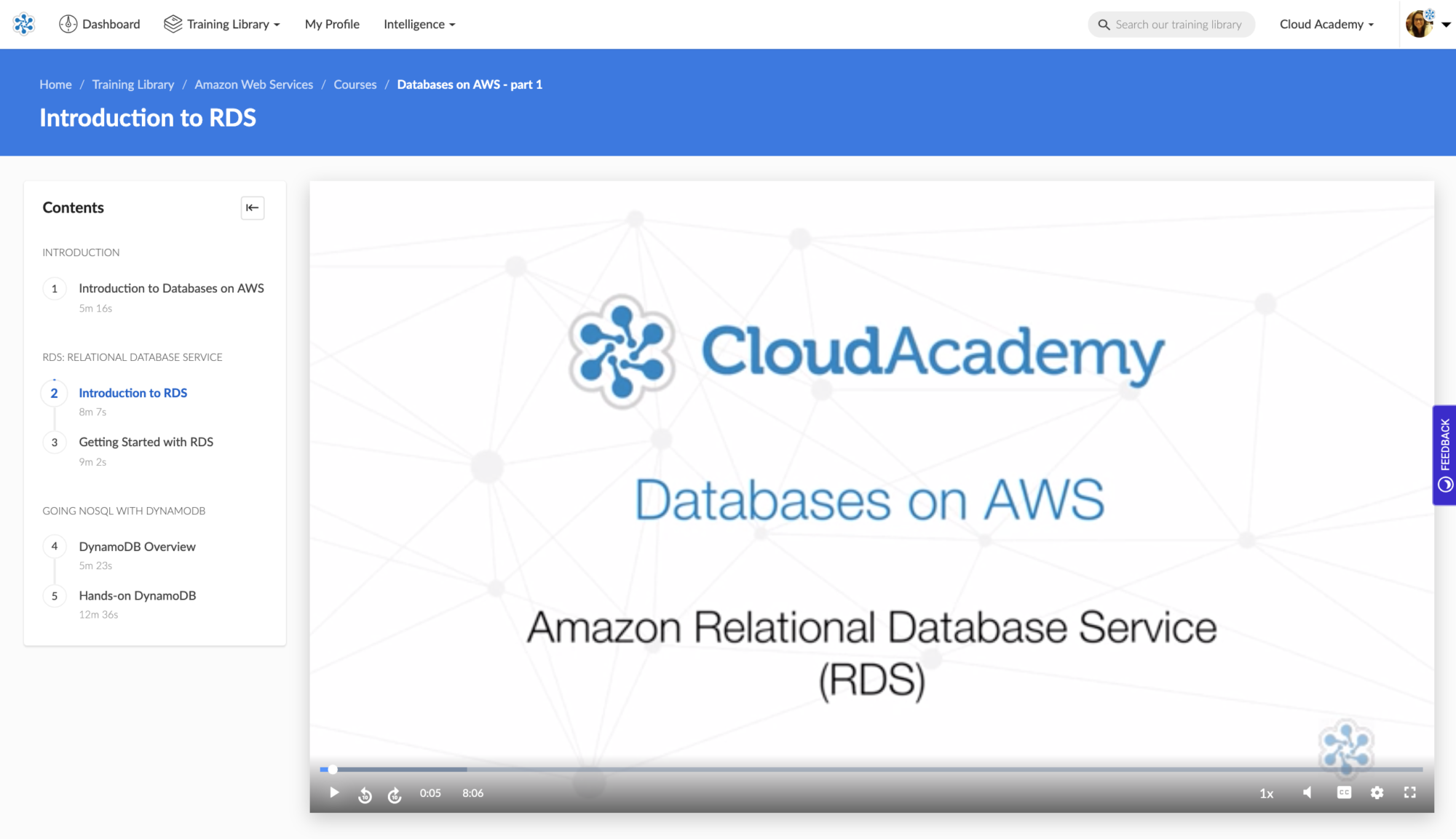 Databases on AWS Course Screenshot