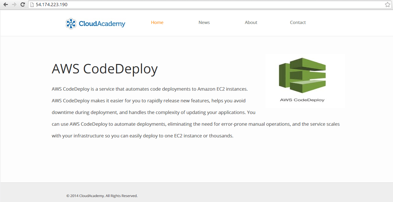 Sample AWSCodeDeploy Application