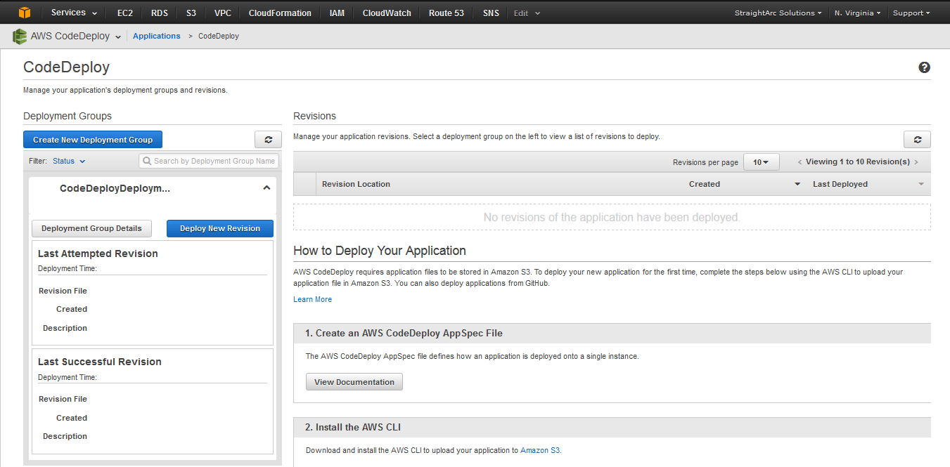 AWSCodeDeploy How to Deploy your Application Screen