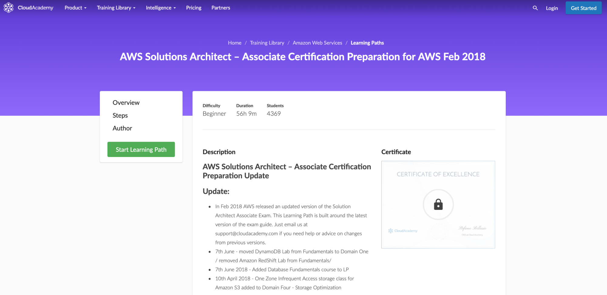 AWS Solutions Architect – Associate Certification Preparation for AWS Feb 2018