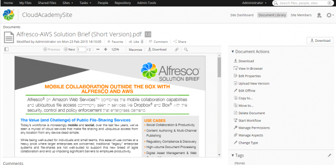 Alfresco Document Viewer