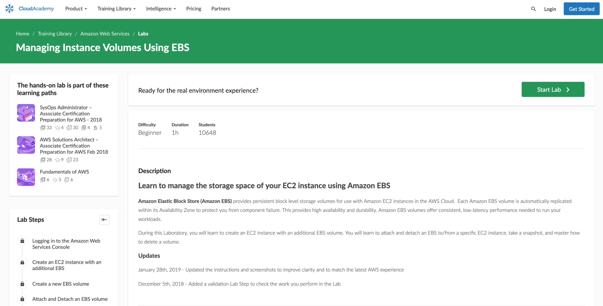 Managing Instance Volumes Using EBS