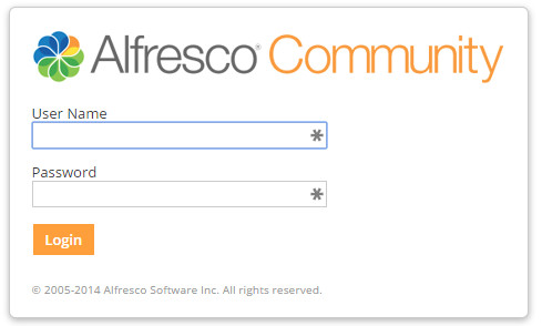Alfresco Community login