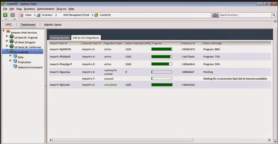 AWS vCenter Management Portal