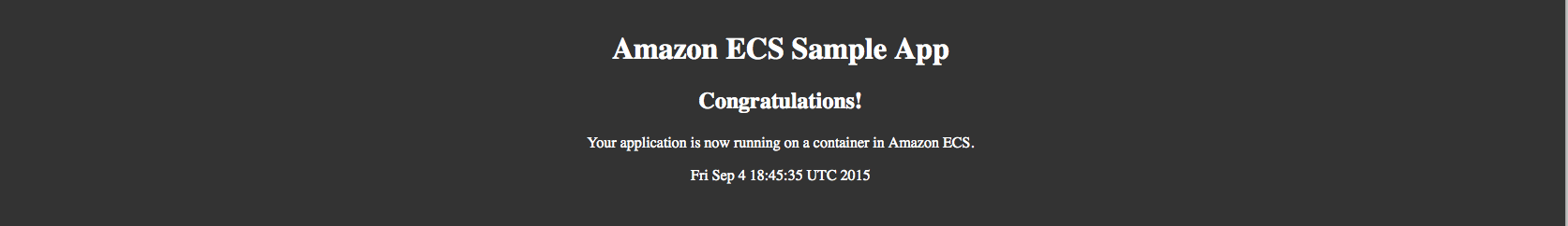 EC2 Container Service Sample App Successfully Created