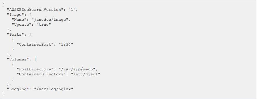 Dockerrun.aws.json file