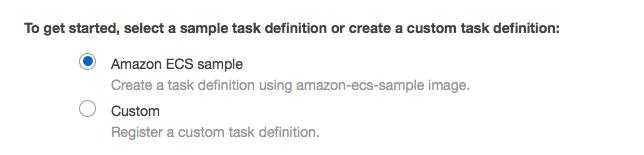 Create an Amazon ECS sample task