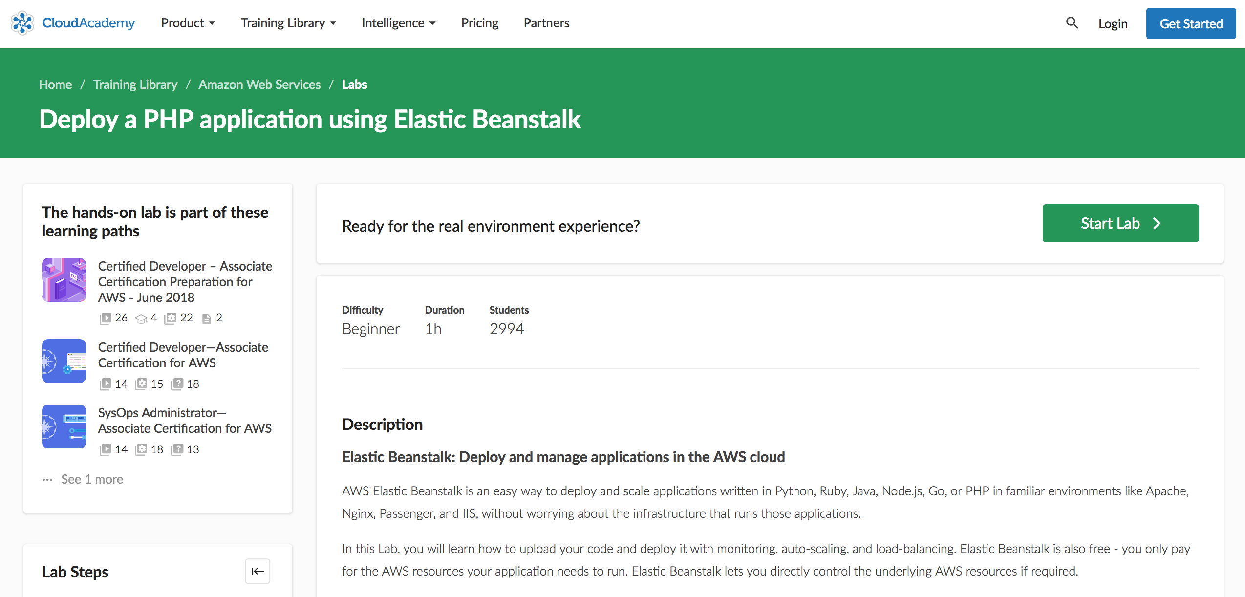 Deploy a PHP application using Elastic Beanstalk