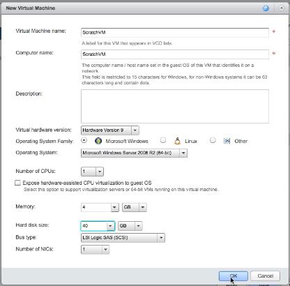 vCloud Air - Configure virtual machine