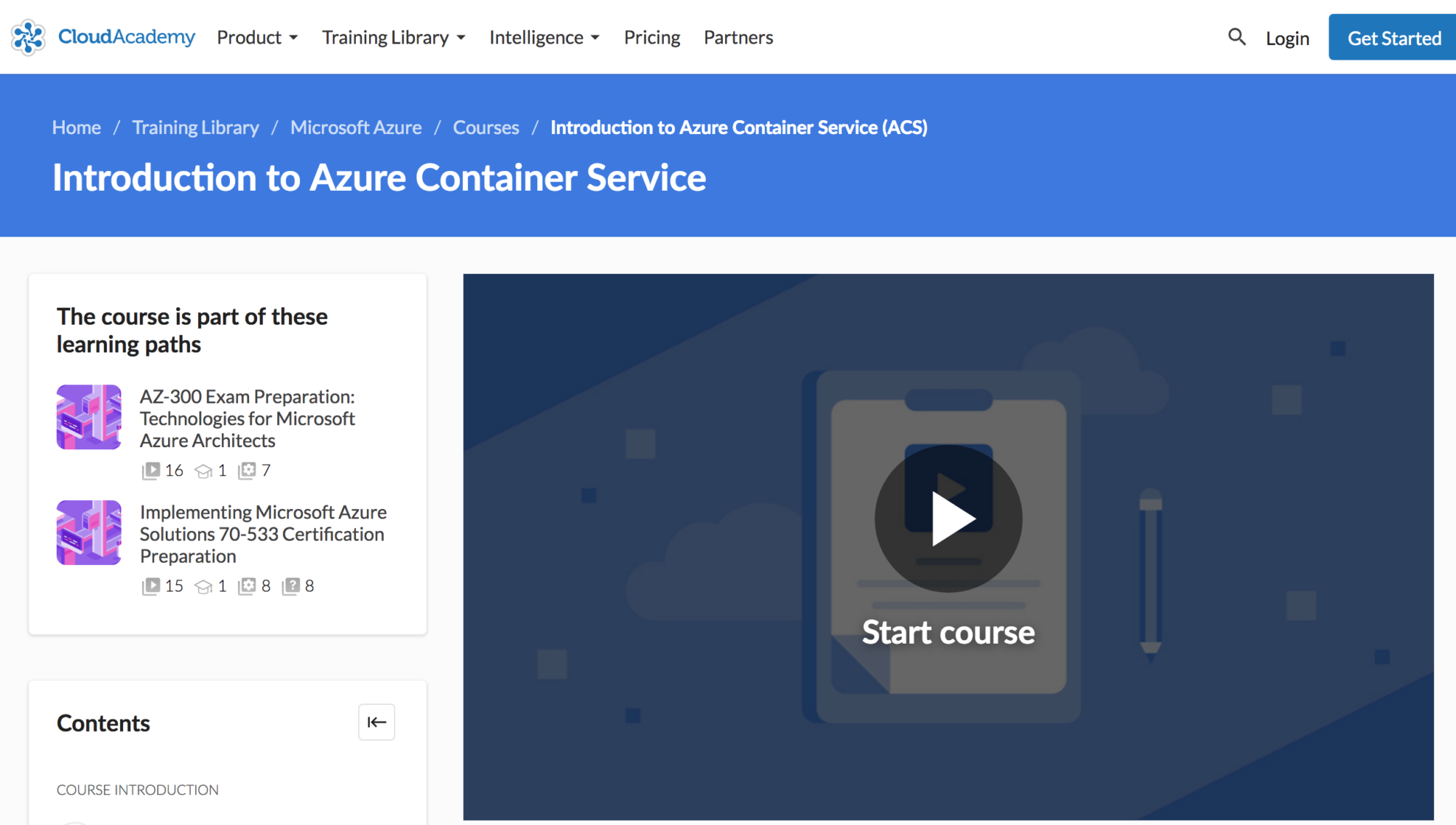 Introduction to Azure Container Service course