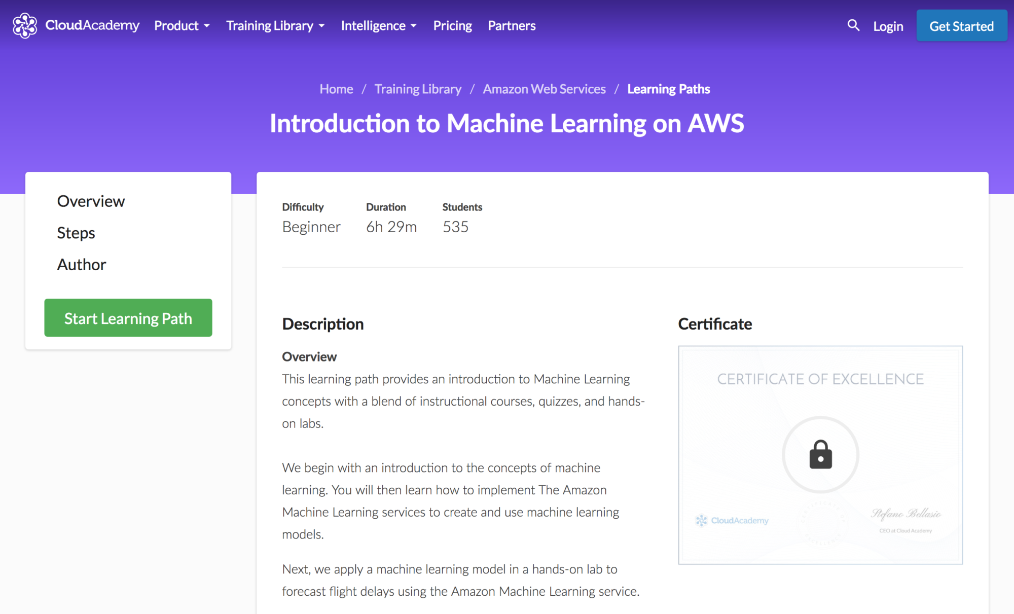 Introduction to Amazon Machine Learning Learning Path