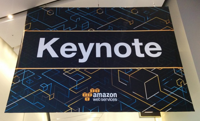 AWS re:Invent 2015 Keynote Banner