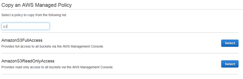 copy an AWS managed policy