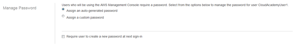 user actions manage password
