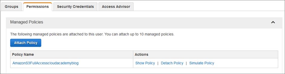 AWS IAM policy: simulator permissions