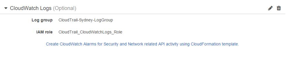 IAM Role in CloudTrail Configuration