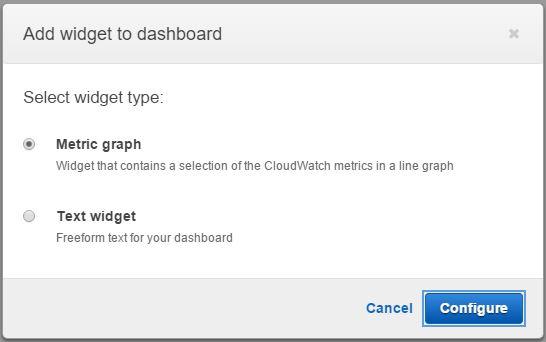 Choosing Widget Type for AWS CloudWatch Dashboard