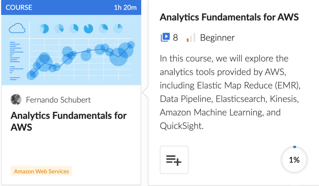 Analytics Fundamentals for AWS course