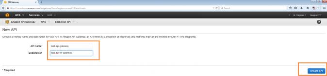 API Gateway New API