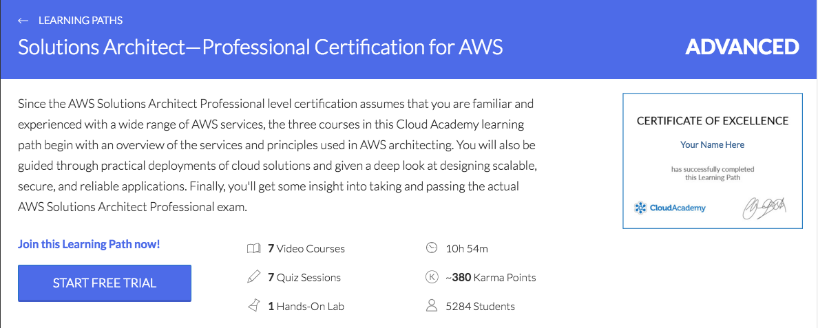 Solutions Architect - Professional Certification for AWS
