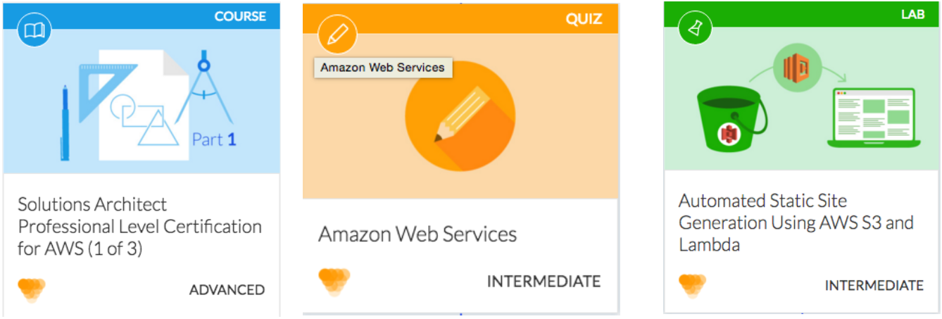 AWS course, quiz, and lab