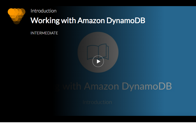Working with Amazon DynamoDB