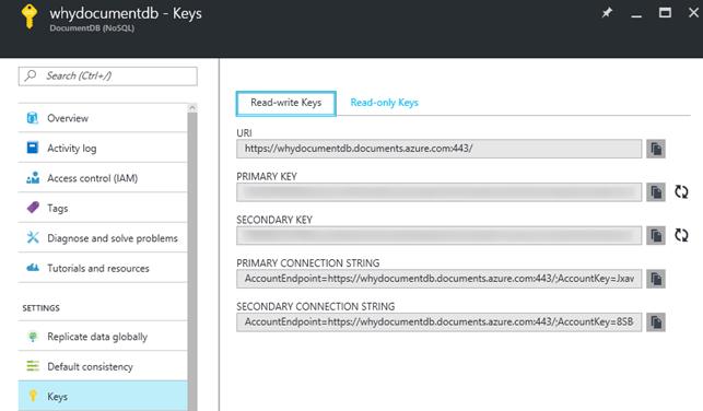 documentdb-keys