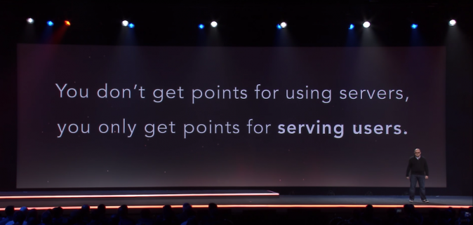 You don't get point for using servers, you only get points for serving users.