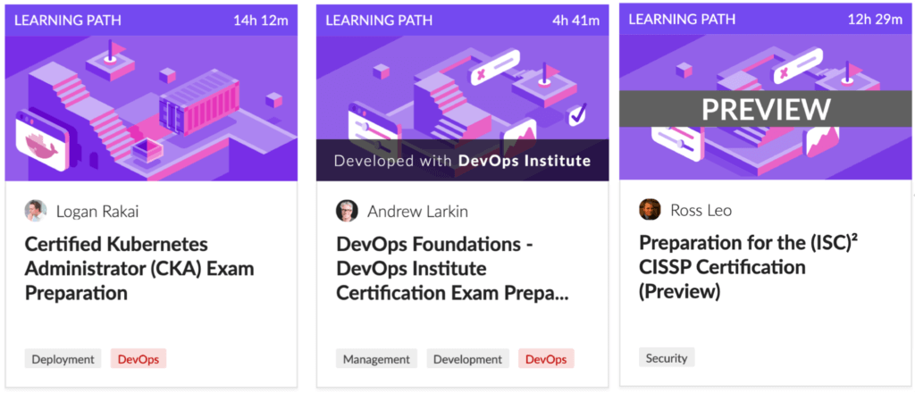 Some Cloud Academy DevOps and Security certs