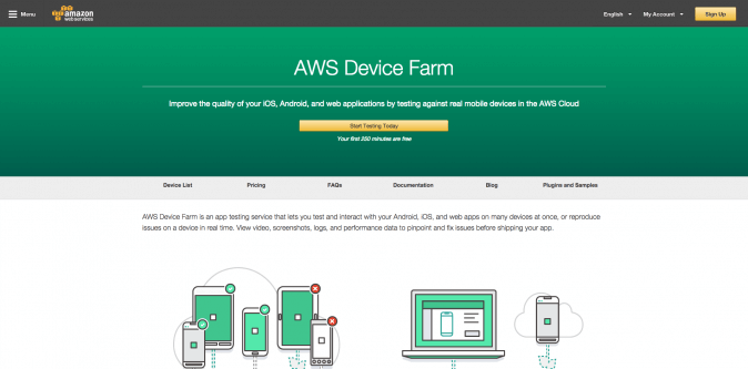 Mobile App Testing on Devices – AWS Device Farm