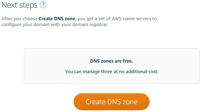 Creating a DNS Zone in Amazon Lightsail