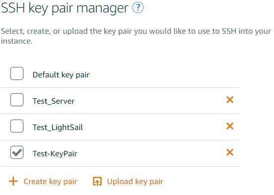 Managing SSH Keys from Amazon Lightsail Console