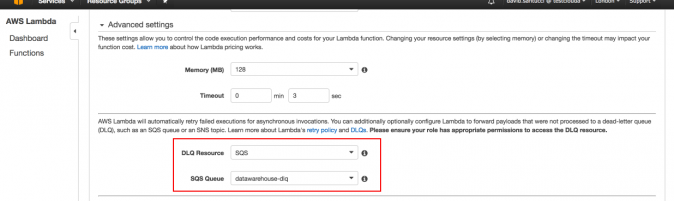 Configure DLQ in AWS Lambda to avoid data loss in our Serverless architecture