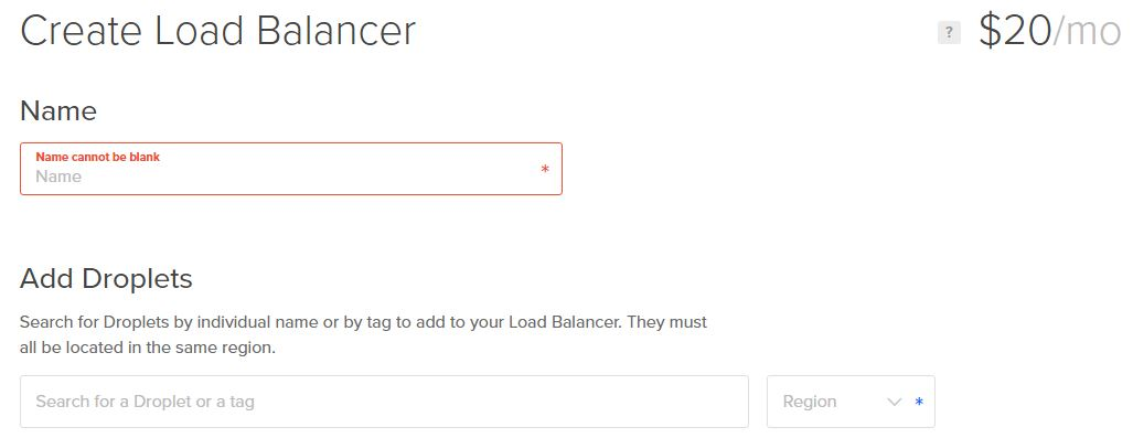 Adding DigitalOcean Load Balancer