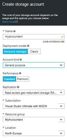 Create Storage Account