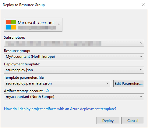 Deploy to Resource Group