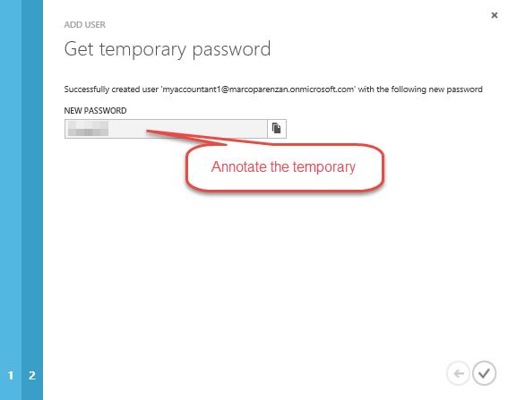 Get temporary password