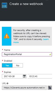 Create a new webhook