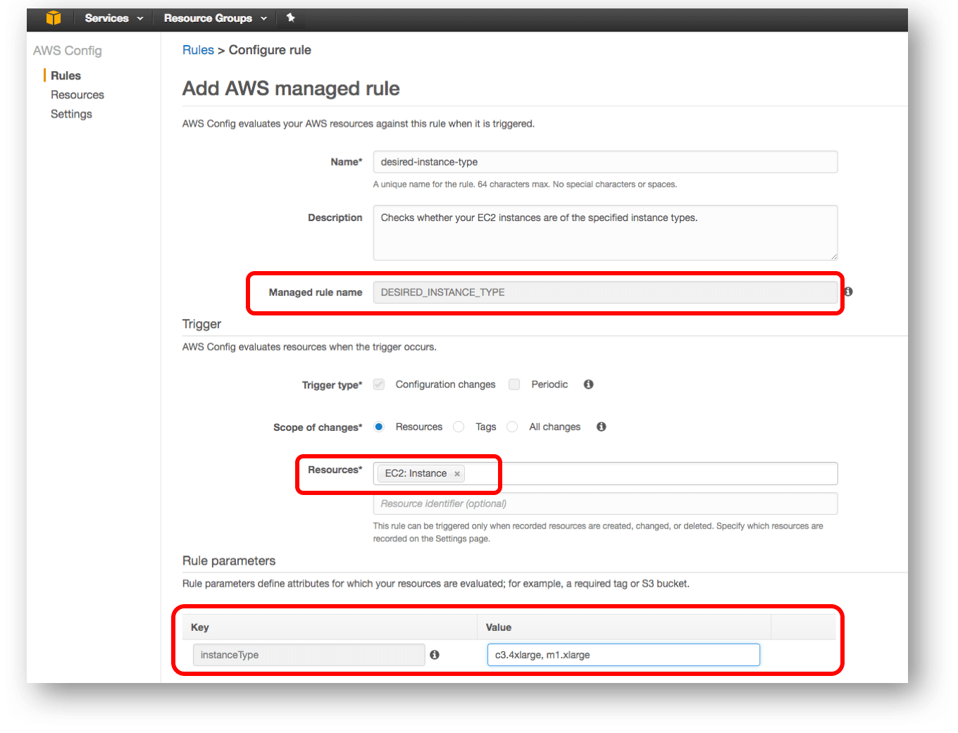 AWS Config Manage Rules