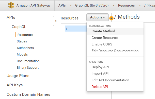 API Gateway - Add New Method