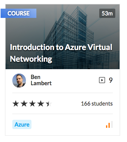 Introduction to Azure Virtual Networking