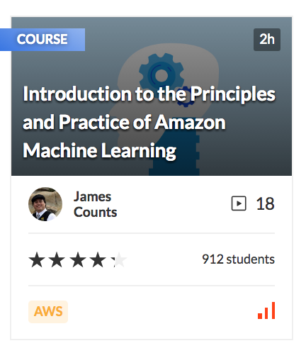 Introduction to the Principles and Practice of Amazon Machine Learning