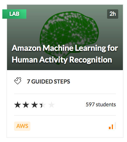 Amazon Machine Learning for Human Activity Recognition