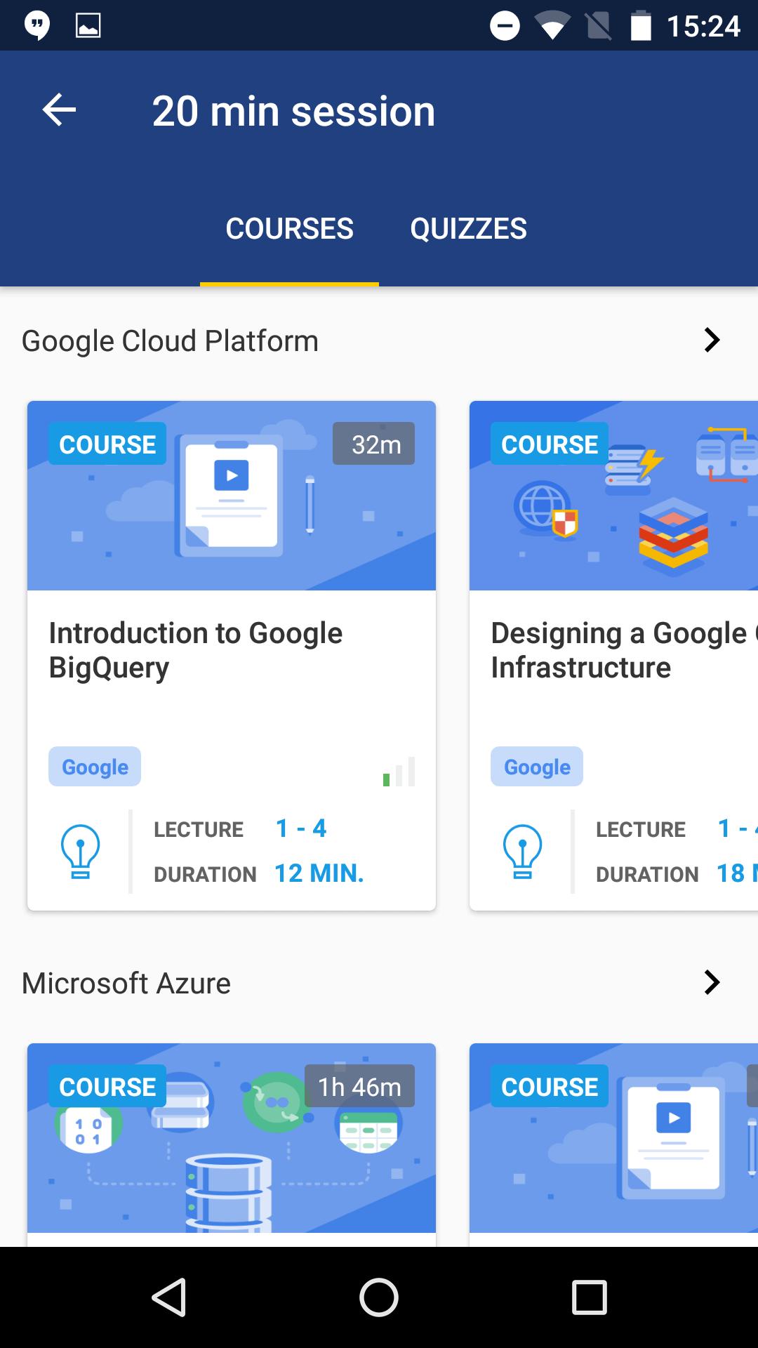 Cloud Academy Mobile App Smart Sessions