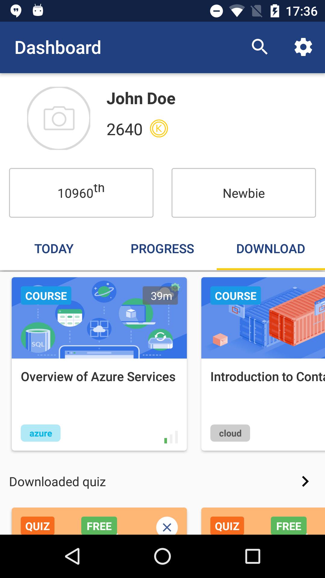 Cloud Academy Mobile App Offline