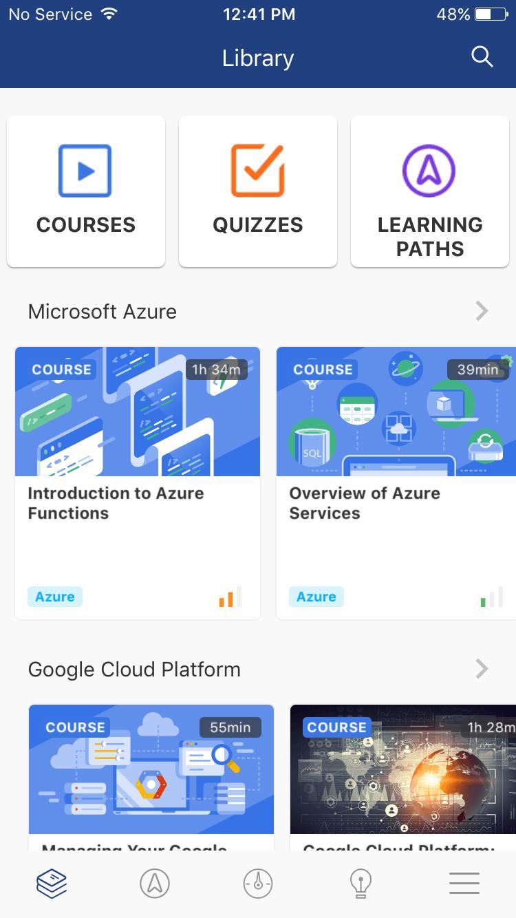 Cloud Academy Mobile App