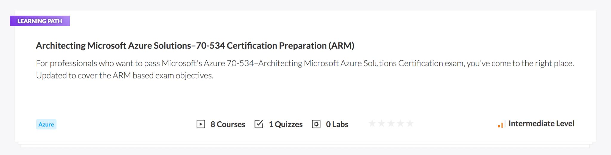 Architecting Microsoft Azure Solutions–70-534 Certification Preparation (ARM)